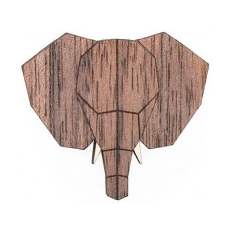 Dřevěná brož Elephant Brooch BeWooden