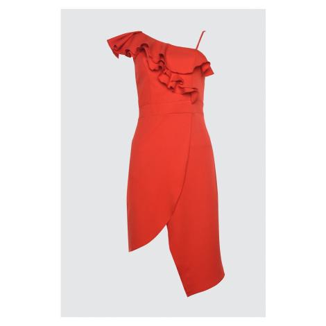 Trendyol Envelop Dress with Red Flywheel
