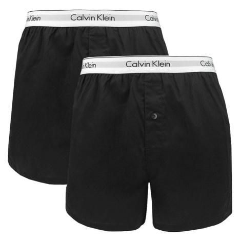 2PACK pánské trenky Calvin Klein černé (NB1396A-001)
