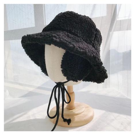 Zimní klobouk imitace ovčí vlny s klapkami na uši