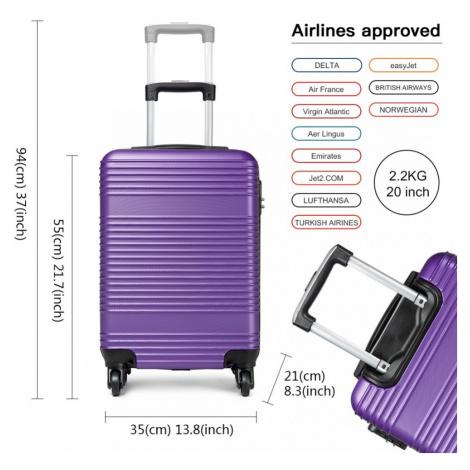 Fialový cestovní kvalitní malý kufr Reiner Lulu Bags