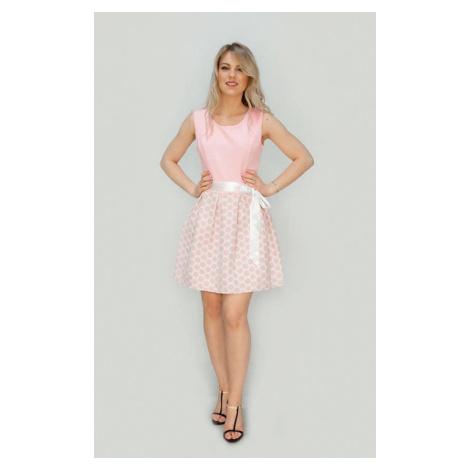 Růžové rozšířené šaty (3054/1) růžová Made in Italy