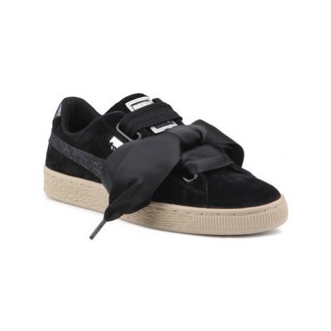 Puma Lifestyle shoes Suede Heart Safari Wns 364083 03 Černá