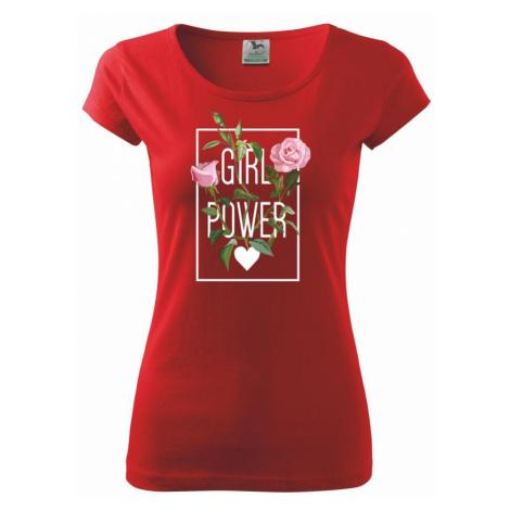 Girl Power - růže - Pure dámské triko