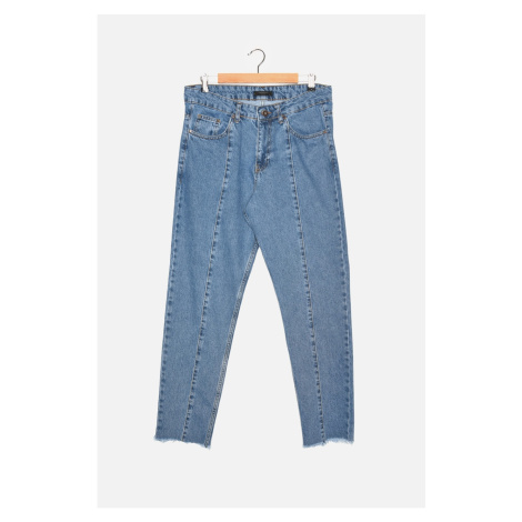 Trendyol Blue Men's Essential Crop Fit Jeans