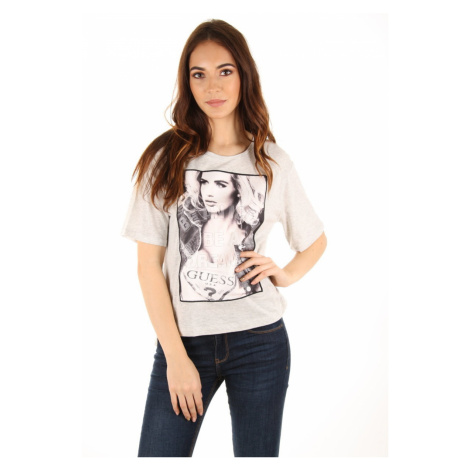 Guess dámské šedé tričko Icon
