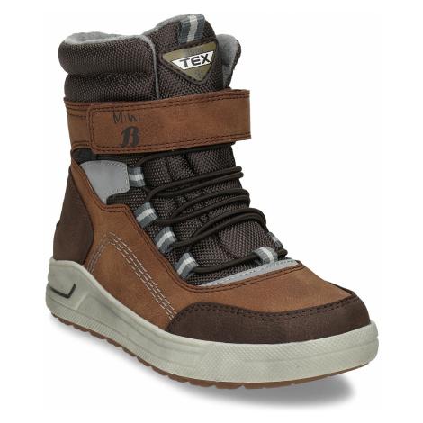 Chlapecká hnědá zimní obuv Baťa