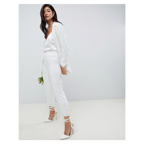 ASOS EDITION embellished trouser-White