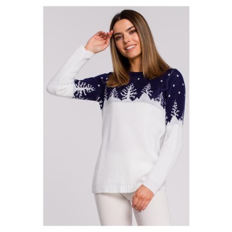 Dámský vánoční svetr s lesním motivem sněhový les