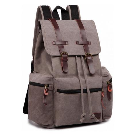 Šedý praktický kvalitní batoh Gotlen Lulu Bags