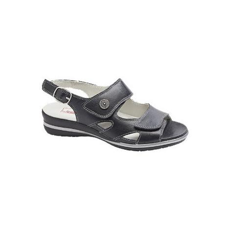 Černé kožené komfortní sandály Medicus