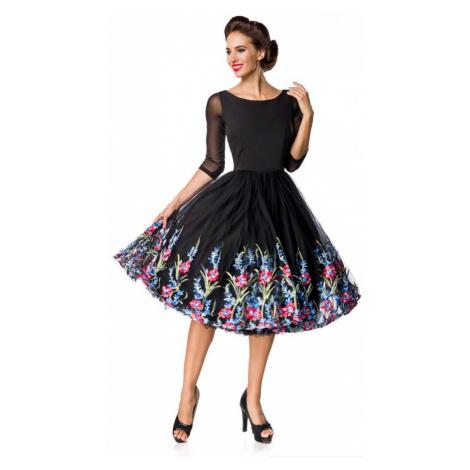 Luxusní vyšívané vintage šaty