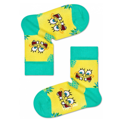 Kids Sponge Bob Fineapple Surprise Sock Happy Socks