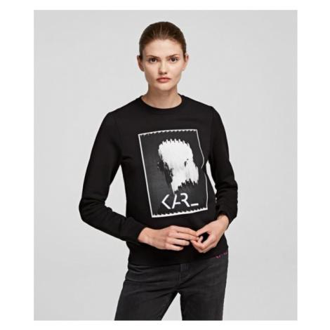 Mikina Karl Lagerfeld Karl Legend Print Sweatshirt - Černá