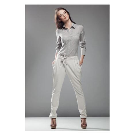 NIFE kalhoty dámské SD03 Aladinky ecru