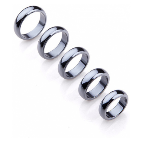 Buddhanaramek Hematitový magnetický prsten 7877 19mm