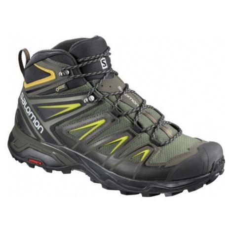 Salomon X ULTRA 3 MID GTX tmavě zelená - Pánská hikingová obuv