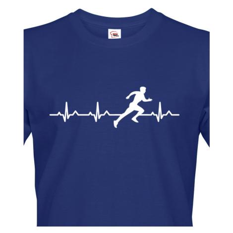 Pánské tričko s potiskem pro běžce Tep sprintera