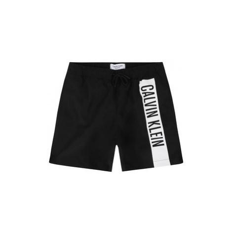 Calvin Klein Swimwear Plavecké šortky Medium Drawstring B70B700225 Černá Regular Fit