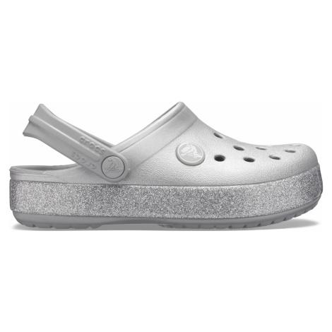 Crocs Crocband Glitter Clog K Silver C9