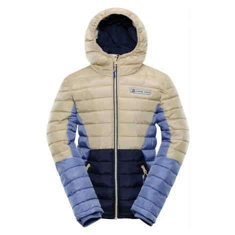 Dětská zimní bunda Alpine Pro BARROKO 4 - béžová
