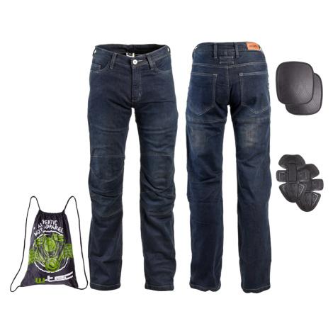 Pánské Moto Jeansy W-Tec Pawted Tmavě Modrá