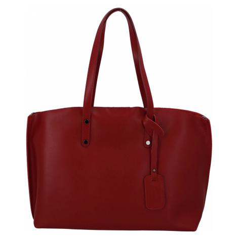 Dámská kožená kabelka tmavě červená - ItalY Jordana Two