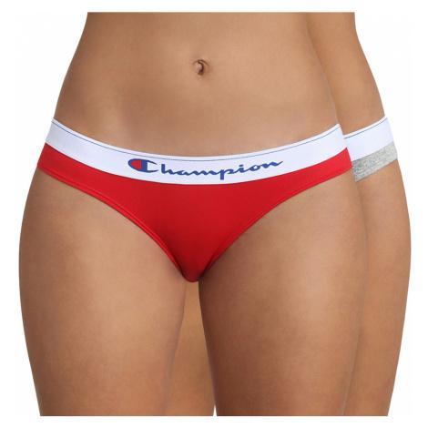 2 PACK dámských kalhotek Champion šedočervená