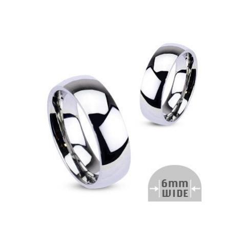 Kovový prsten - zaoblený kroužek lesklé stříbrné barvy Šperky eshop