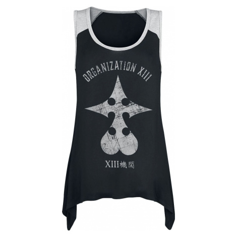 Kingdom Hearts Organisation XIII Dámský top skvrnitá černá / šedá
