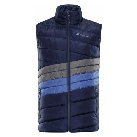 ALPINE PRO QUANN 2 Pánská vesta MVEP061602PB mood indigo