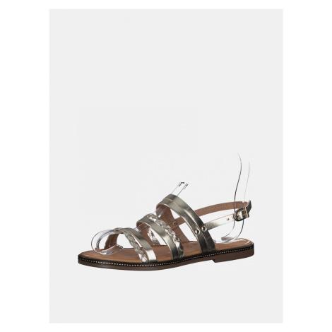 Tamaris zlaté kožené sandály