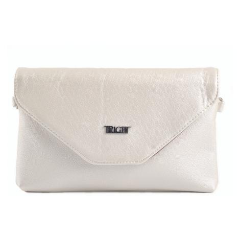 BRIGHT Společenská kabelka Bílá perleť, 24 x 13 x 15 (BR18-AA2009-15PER)