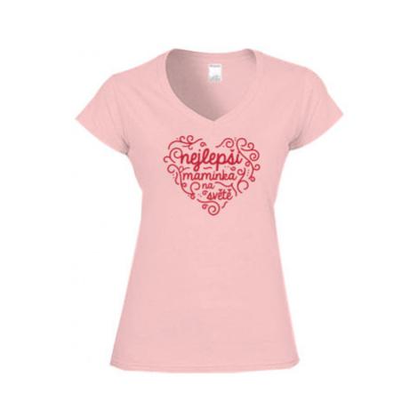 Dámské tričko V-výstřih Nejlepší maminka na světě