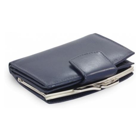 Modrá dámská kožená rámová peněženka Norah Arwel
