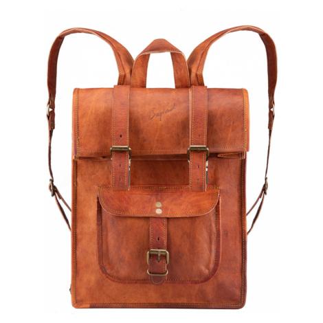 Bagind Rollin - Dámský i pánský kožený batoh hnědý, ruční výroba, český design