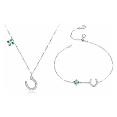 Linda's Jewelry Zvýhodněná sada šperků Lucky Podkova Ag 925/1000 IS051