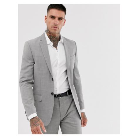 Topman slim suit jacket in grey