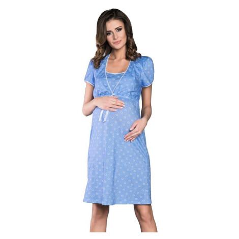 Mateřská noční košile Daisy světle modrá Italian Fashion