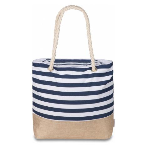 Semiline Woman's Bag L2021-1 White/Navy Blue