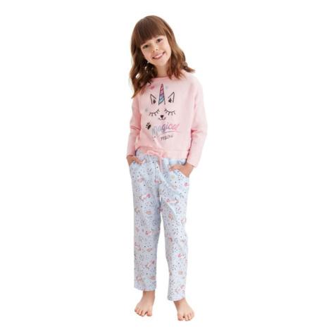 Dívčí pyžamo Nadia růžové jednorožec Taro