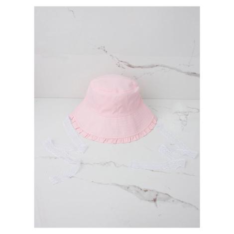 Dívčí letní čepice, světle růžová ONE SIZE FPrice