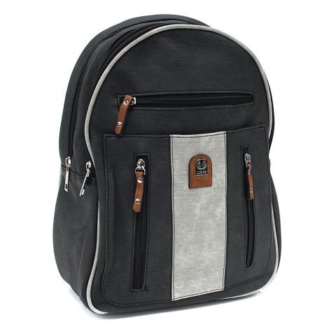 Černošedý zipový dámský batoh Trina New Berry