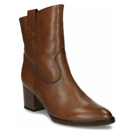 Hnědá dámská kožená kotníková obuv Gabor