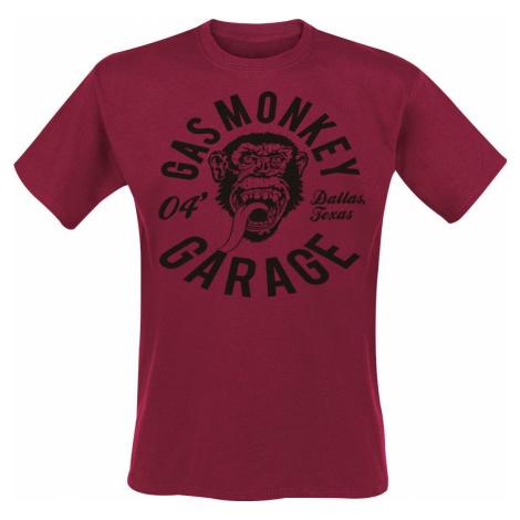 Gas Monkey Garage Monkey Mechanic Tričko červená