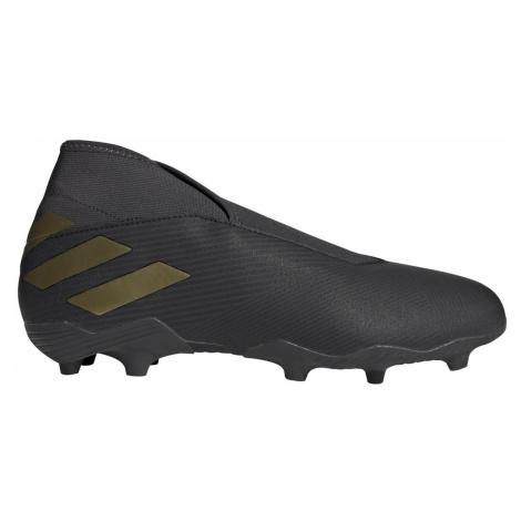 Kopačky adidas NEMEZIZ 19.3 Laceless FG Černá / Zlatá