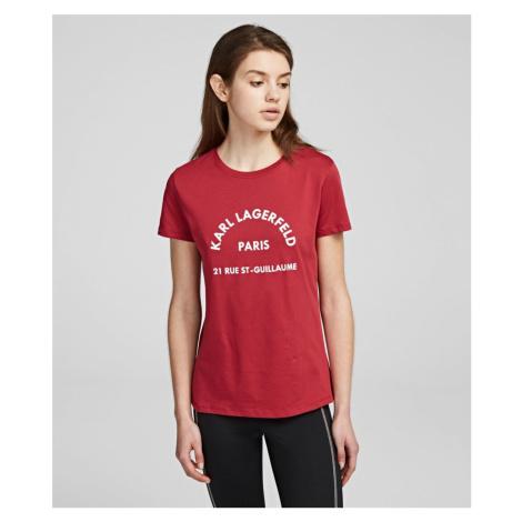 Tričko Karl Lagerfeld Address Logo T-Shirt - Červená
