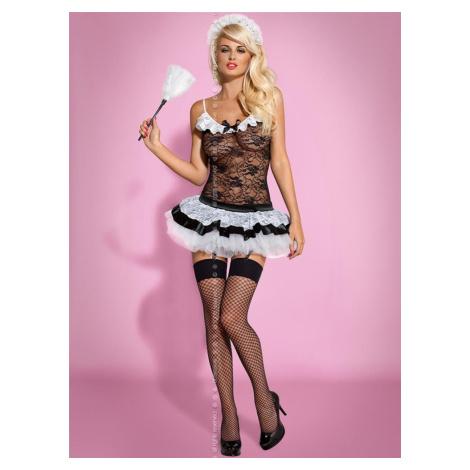 Sexy kostým Housemaid - Obsessive Černá