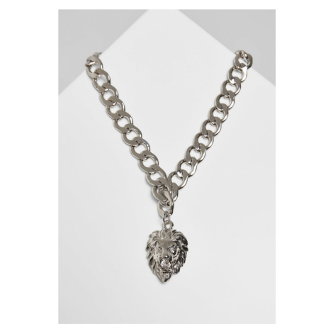 Lion Basic Necklace - silver Urban Classics
