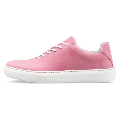 Vasky Teny Pink - Dámské kožené tenisky růžové, česká výroba